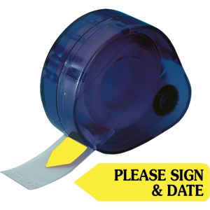 Redi-Tag Please Sign and Date Arrows In Dispenser