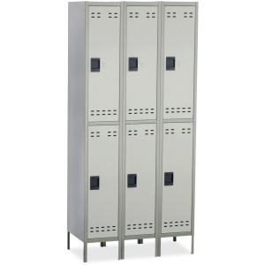 Safco Double-Tier Two-tone 3 Column Locker with Legs