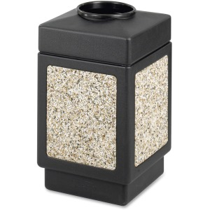 Safco Open Top Square 38-Gallon Receptacle