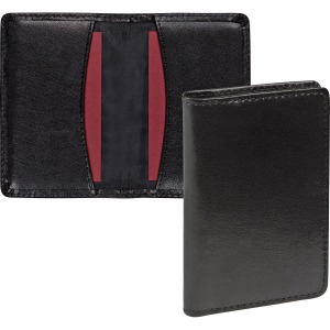 Samsill Regal Carrying Case (Wallet) Business Card - Black