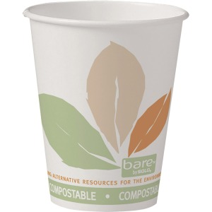 Solo Bare Eco-Forward SS PLA Paper Hot Cups