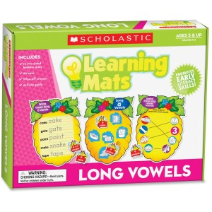 Scholastic Res. Grade K-2 Long Vowels Learning Mats