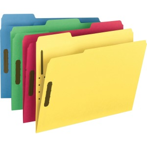 Smead Colored Fastener Folders with Reinforced Tabs