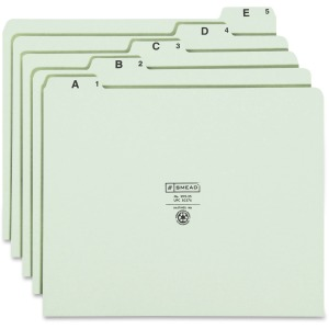 Smead 1/5 Tab Cut Letter Recycled Top Tab File Folder