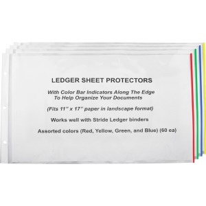 Stride Semi-clear Landscape Sheet Protectors
