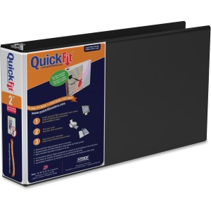 QuickFit Landscape Round Ring View Binder for Spreadsheets