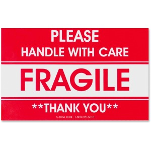 Tatco Fragile/Handle With Care Shipping Label