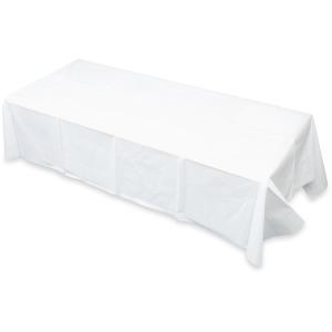 Tatco White Paper Rectangular Tablecovers