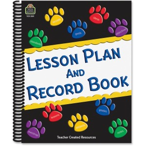 Teacher Created Resources Paw Prints Lesson/Record Book