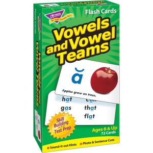 Trend Vowels and Vowel Teams Flash Cards