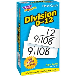 Trend Division 0-12 Flash Cards