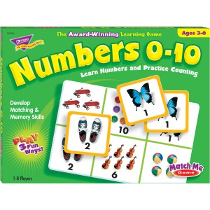 Trend Match Me Numbers 0-10 Learning Game