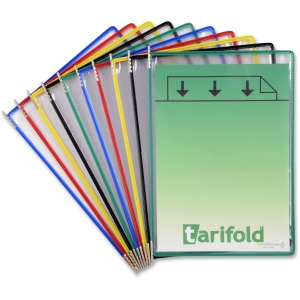 Tarifold Pivoting 10-Pockets Display Pack