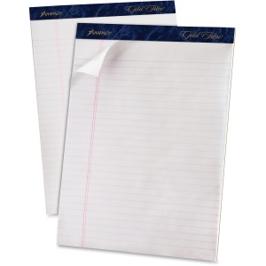 TOPS Gold Fibre Ruled Perforated Writing Pads - Letter
