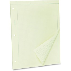 TOPS Green Tint Engineer's Quadrille Pad - Letter