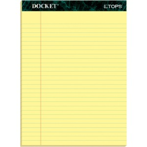 TOPS Docket Letr-Trim Legal Rule Canary Legal Pads
