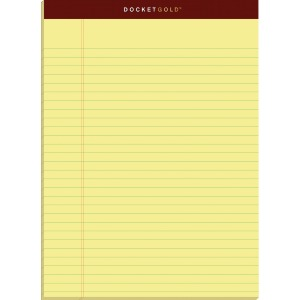 TOPS Docket Gold Legal Pads - Letter