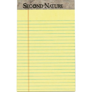 TOPS Sec. Nature Recycled Jr Legal Ruled Perforated Top Pads - Jr.Legal