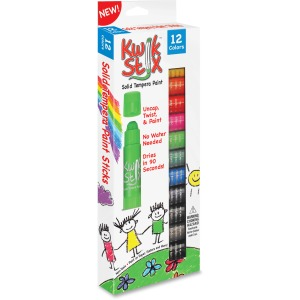 The Pencil Grip Kwik Stix 12-color Solid Tempera Paint