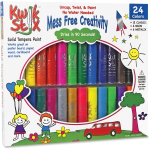 The Pencil Grip Tempera Paint 24-color Mess Free Set