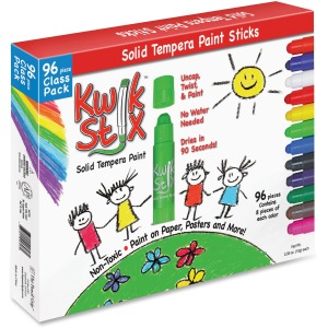The Pencil Grip Kwik Stix 96-Piece Tempera Paint Sticks