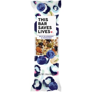 This Bar Saves Lives Wild Blueberry/Pistachio Bar
