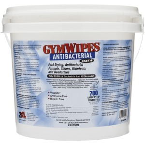 2XL GymWipes Dispensing Antibacterial Towelettes