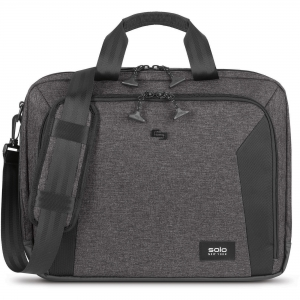 "Solo Voyage Carrying Case (Briefcase) for 15.6"" Notebook - Gray, Black"