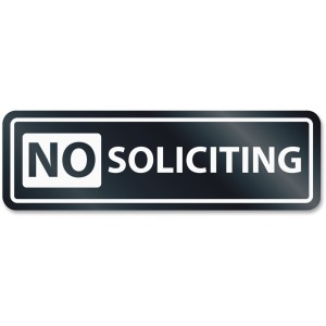HeadLine No Soliciting Window Sign