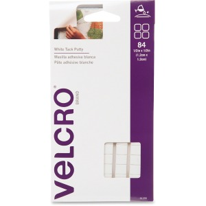 VELCRO® Brand White Tac Putty, 1/2in Squares, White, 84ct