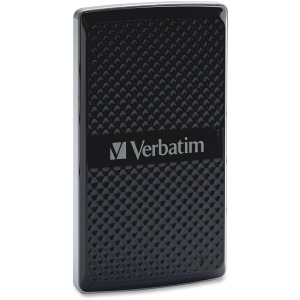 Verbatim 128GB Vx450 External SSD, USB 3.0 with mSATA Interface - Black