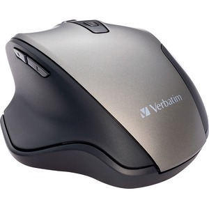 Verbatim Silent Ergonomic Wireless Blue LED Mouse - Graphite