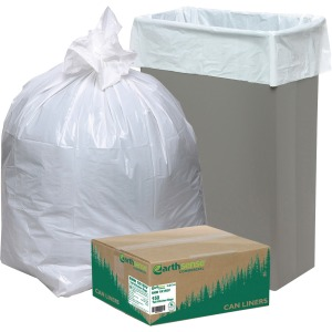 Webster Heavy-Duty Reclaim Recycled White Can Liners