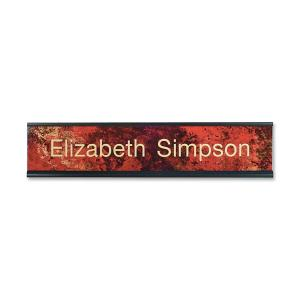 "Xstamper 2""x10"" Standard Aluminum Desk Sign Set"