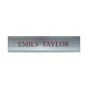 Xstamper Xecutives Silver Aluminum Wall Signs