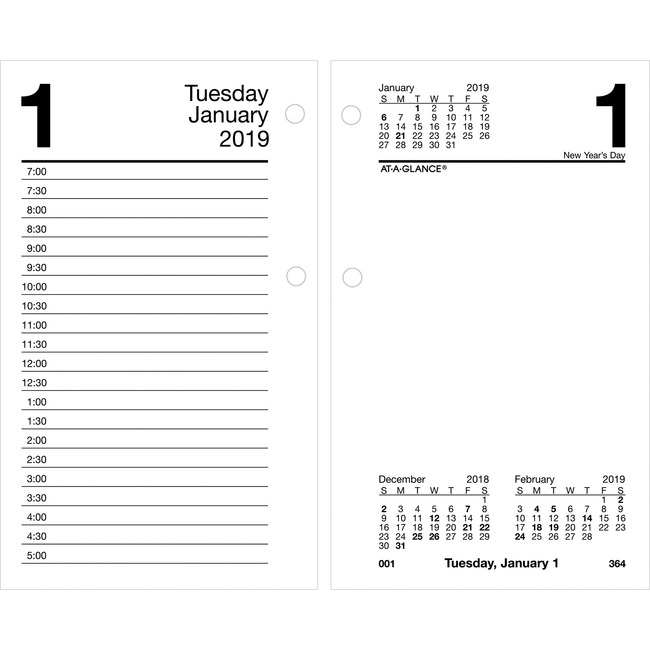 At-A-Glance Recycled Desk Calendar Refill