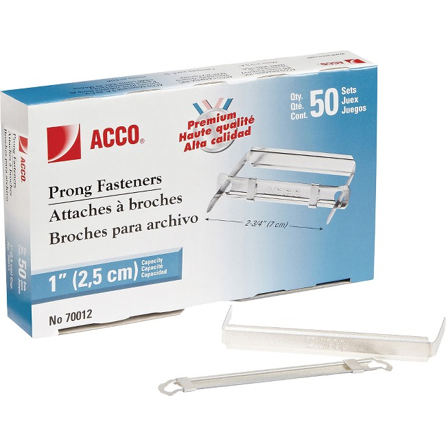 Acco Standard 2H Punch Premium Prong Fastener Set