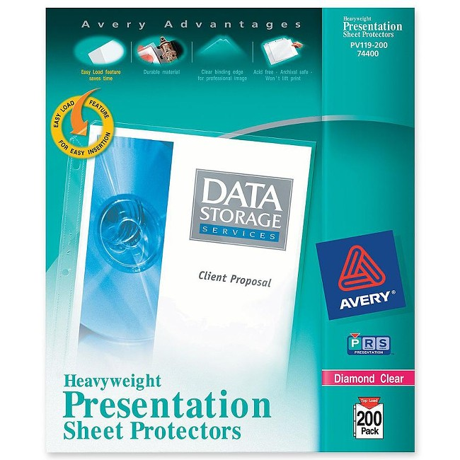 Avery&reg Diamond Clear Heavyweight Sheet Protectors