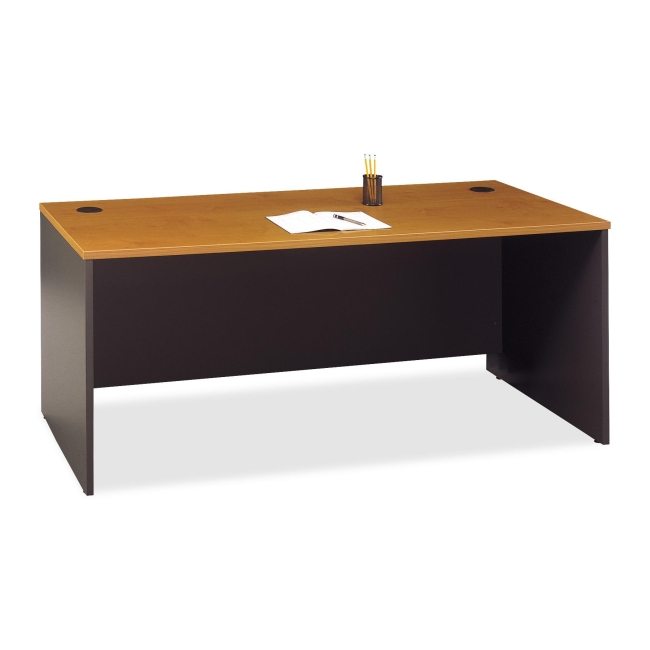 Bush Business Furniture Series C72W Desk Shell in Natural Cherry