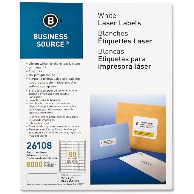 Business Source Address Laser Labels