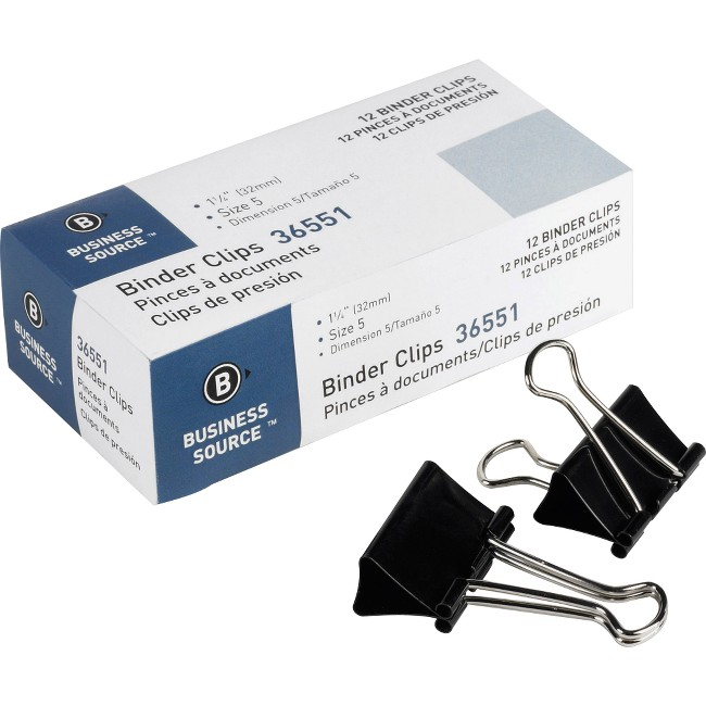 Business Source Fold-back Binder Clips