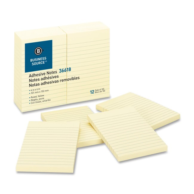 Business Source Ruled Adhesive Notes