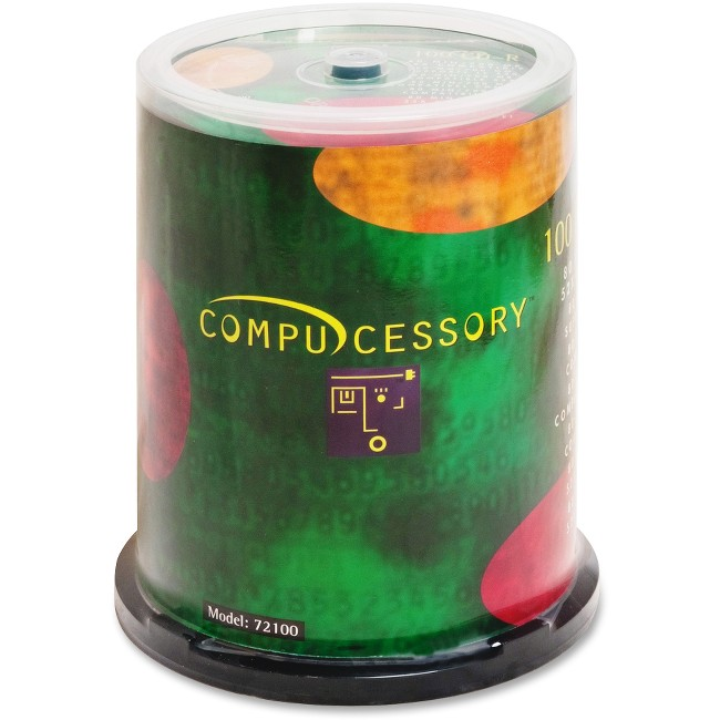 Compucessory CD Recordable Media - CD-R - 52x - 700 MB - 100 Pack Spindle
