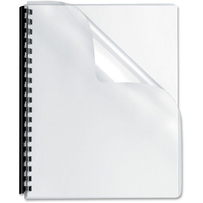 Fellowes Crystals™ Clear PVC Covers - Oversize, 100 pack