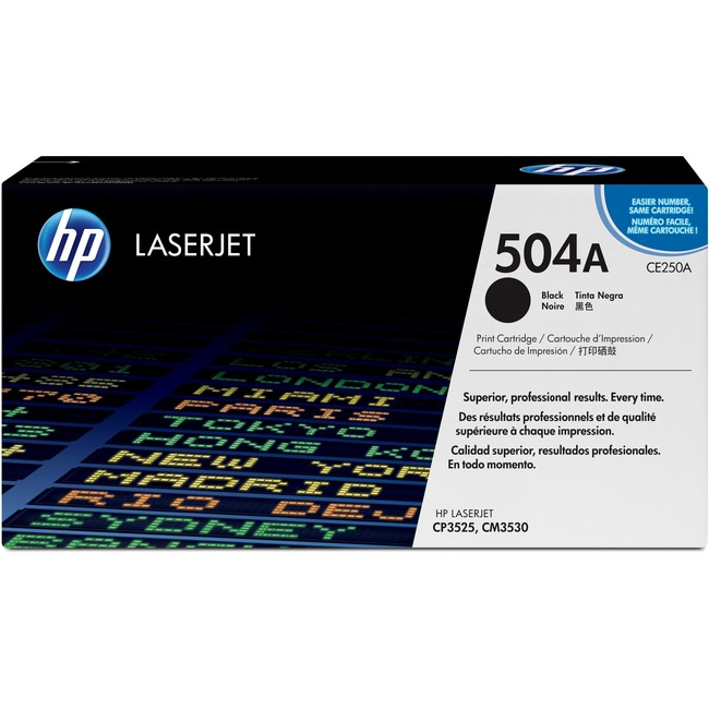 HP 504A (CE250A) Original Toner Cartridge - Single Pack