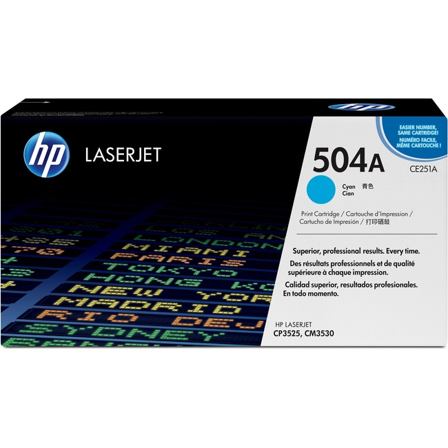 HP 504A (CE251A) Original Toner Cartridge - Single Pack