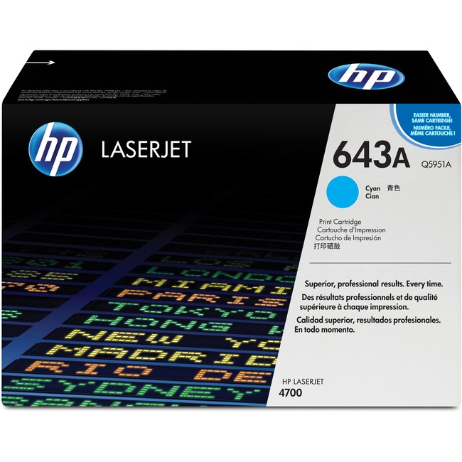 HP 643A (Q5951A) Original Toner Cartridge - Single Pack