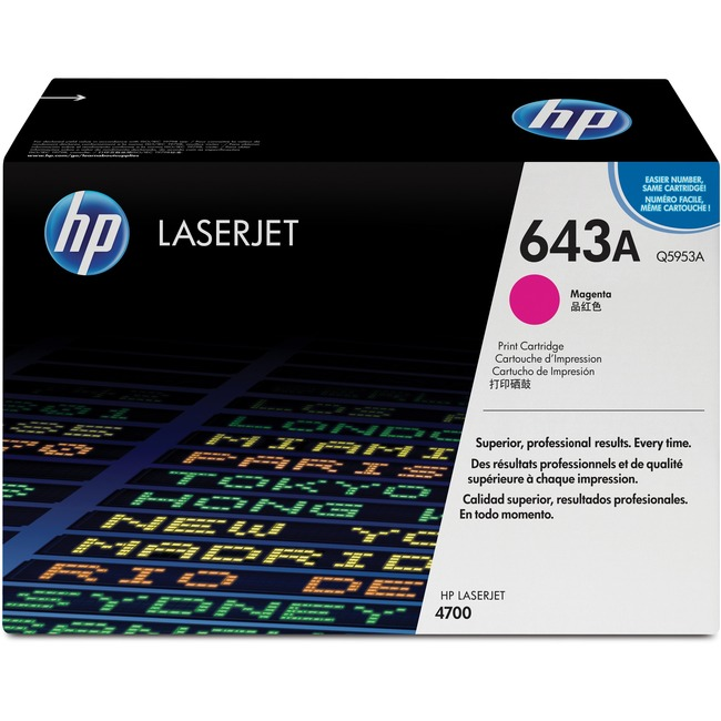 HP 643A (Q5953A) Original Toner Cartridge - Single Pack