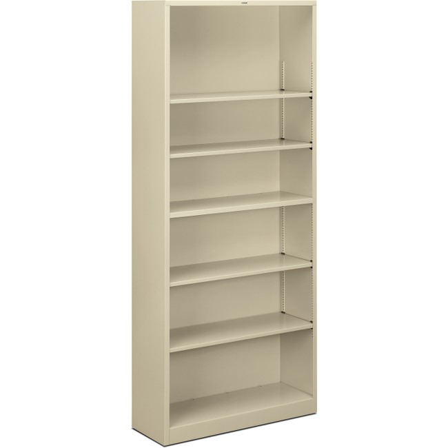 HON Brigade 6-Shelf Steel Bookcase