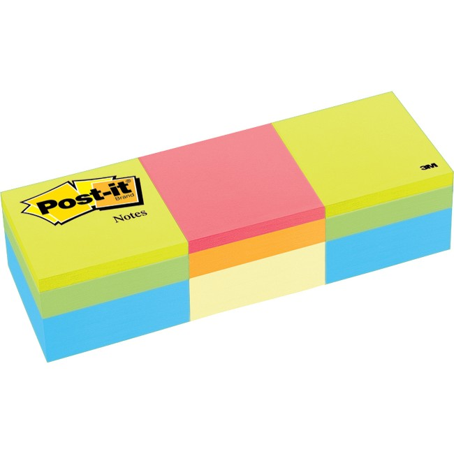 Post-it® Notes Cube - Green Wave/Canary Wave